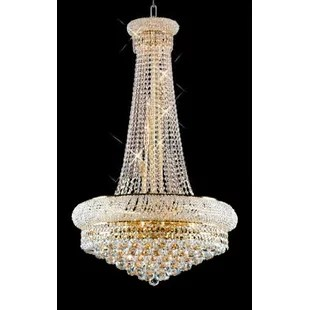 Kinlaw French Empire 15 Light Crystal Chandelier