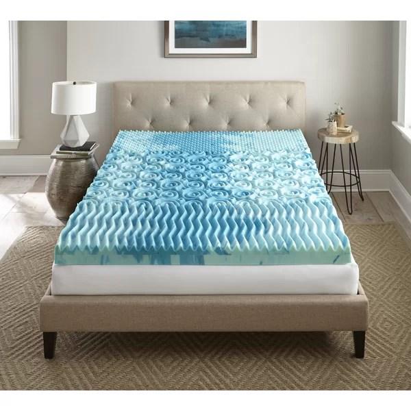 Lane Furniture Sleep Cool Gellux 4 Gel Memory Foam Mattress Topper Reviews Wayfair