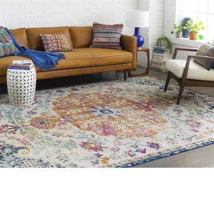 neutral rugs for living room pictures of small decorating ideas area joss main hillsby blue orange rug