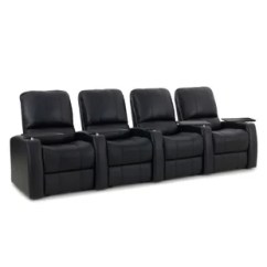 Home Theater Reclining Sectional Sofa Leather Slipcover Recliner Row Of 4 Latitude Run 1 Black Lamp Tables Sofas Shop 01