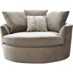 big round chair reupholster cushion diy oversized cuddle wayfair quickview