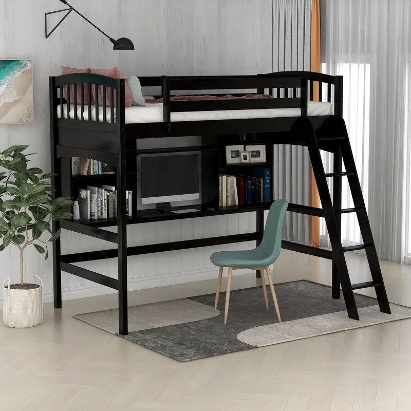 bindi elevated twin bed with desk
