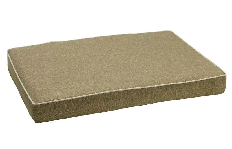 Isotonic Diam Linen Dog Foam Mattress Size: Large (36 L x 24 W) Color: Flax (oyster)