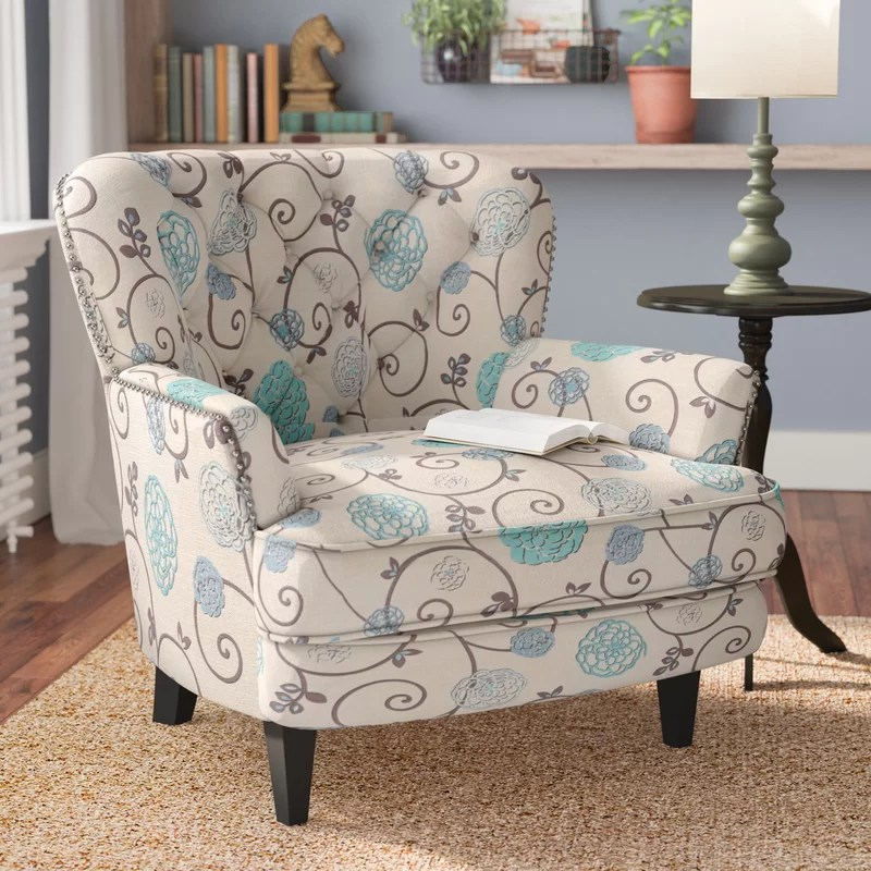 floral arm chair one and a half recliner andover mills hamburg armchair reviews wayfair