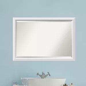 white bathroom mirrors you'll love | wayfair