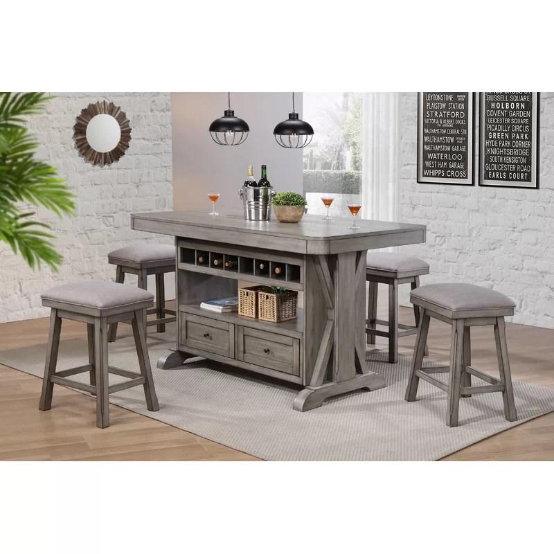 kitchen island set delta chrome faucet ophelia co vergara 5 piece reviews wayfair