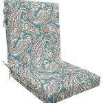 Canora Grey Turquoise Highback Outdoor Dining Chair Cushion Wayfair