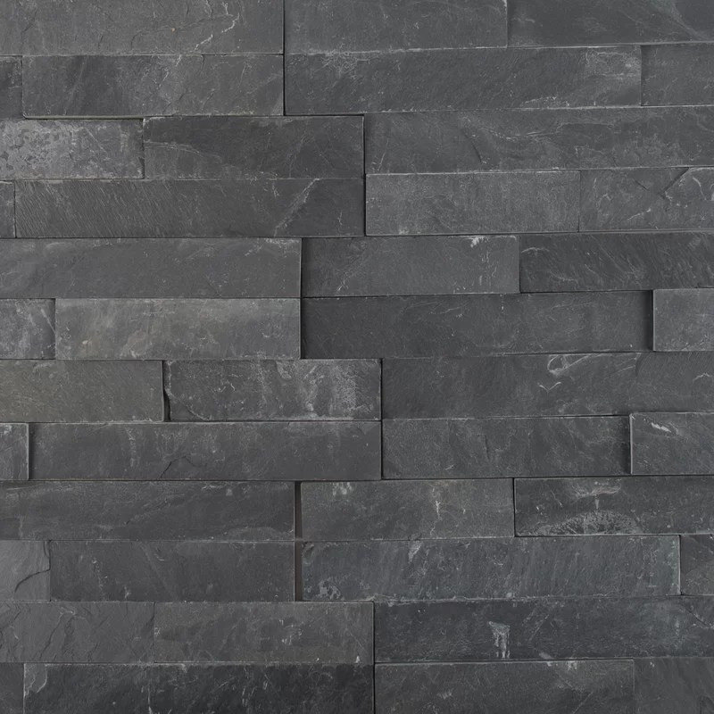 premium 6 x 24 slate stacked stone tile