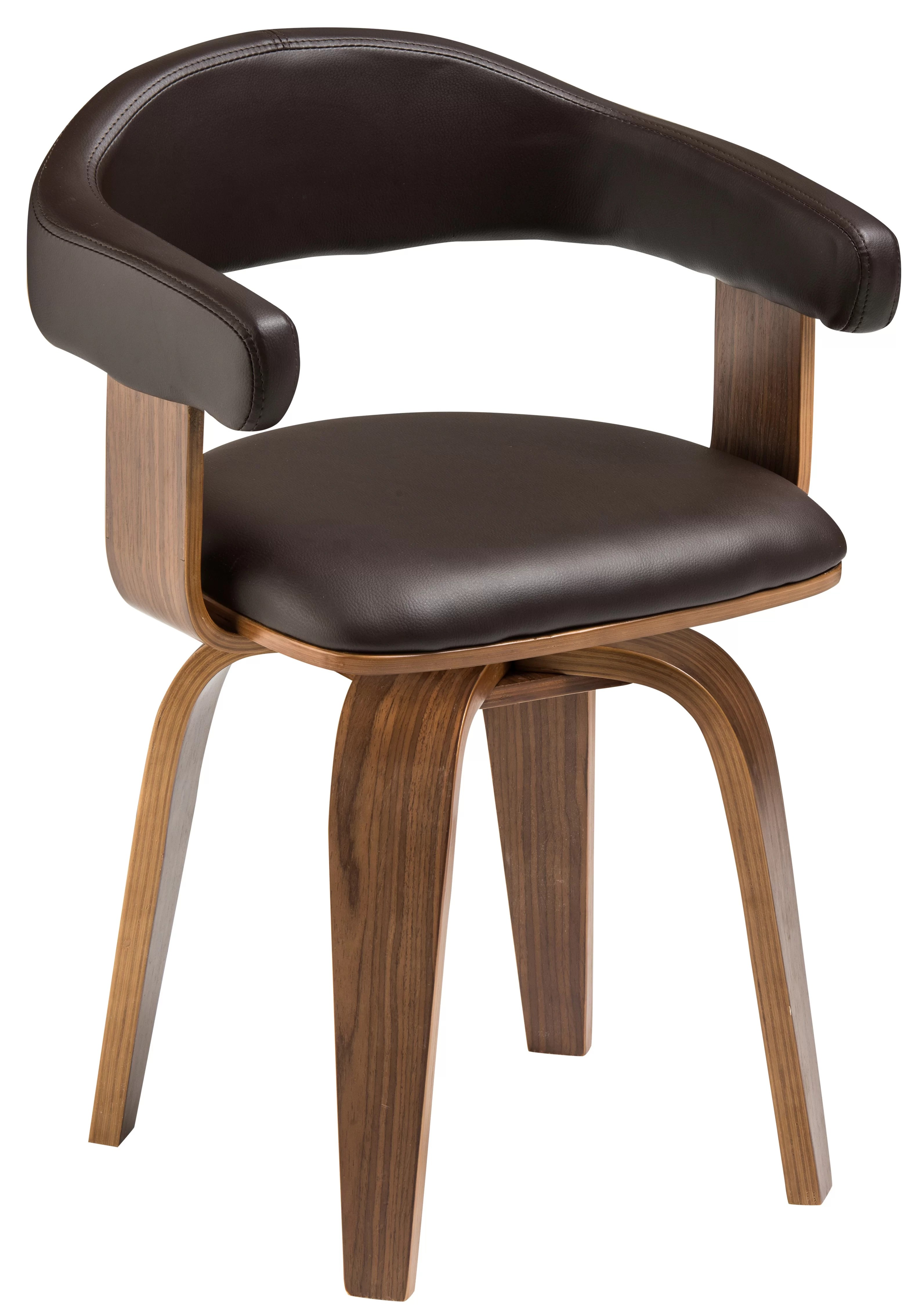 tub chair brown leather steelcase office chairs wayfair co uk holtz bentwood