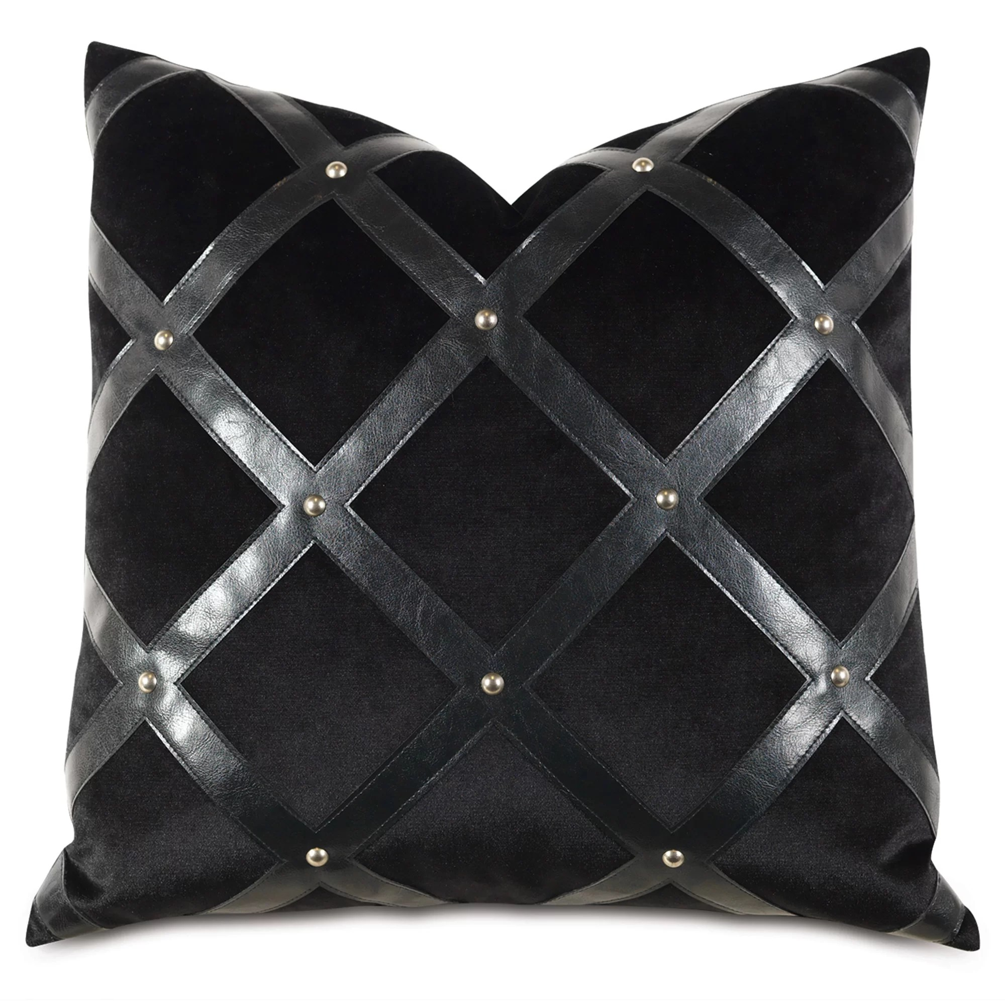 leather throw pillows online