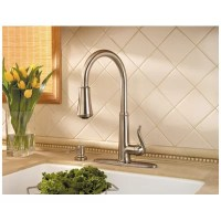 Pfister Brushed Nickel Pull Down Faucet, Pull-Down Brushed ...