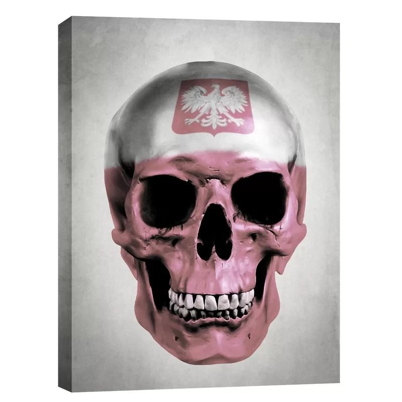 Polish Skull-Grey by Nicklas Gustafsson Graphic Art on Canvas Size: 54 H x 40 W