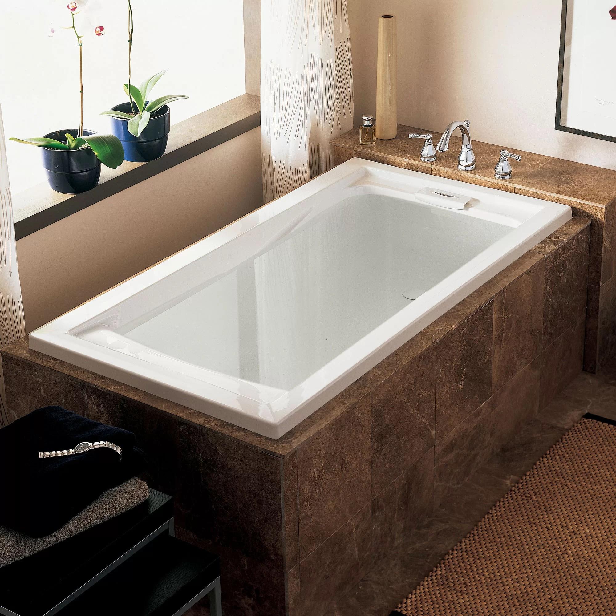 American Standard Evolution 60 X 32 Drop In Whirlpool Bathtub Wayfair