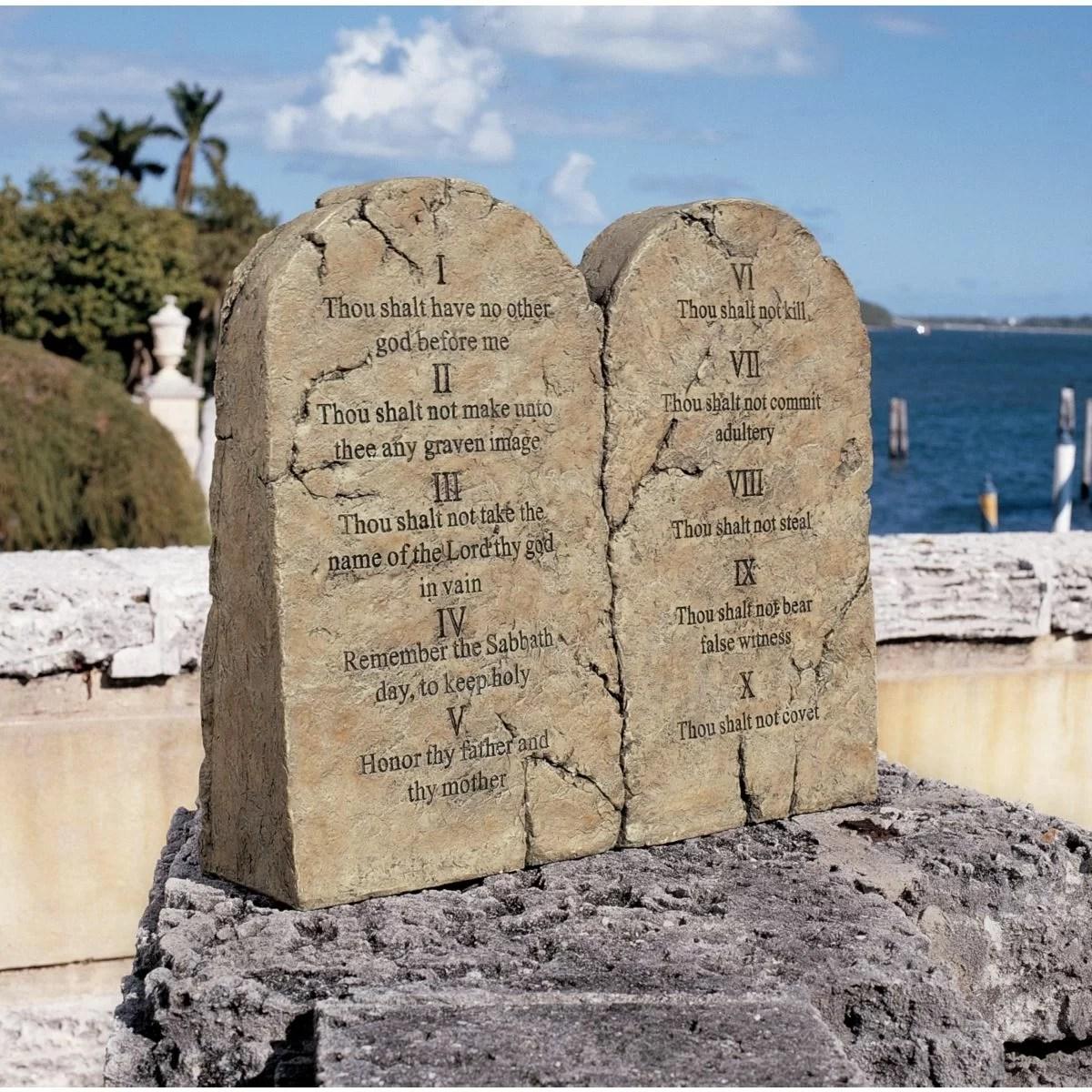 ten commandments garden stone