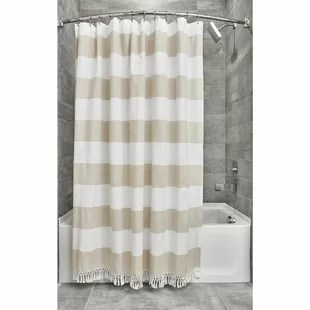 silver ivory cream shower curtains