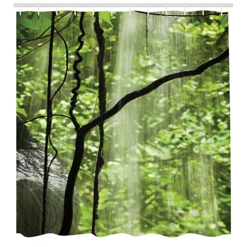 rainforest shower curtain set hooks