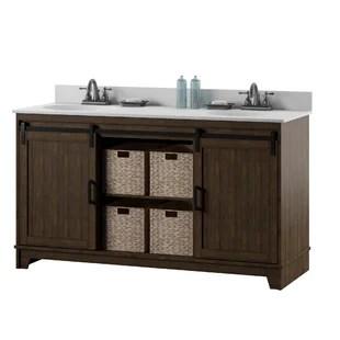 braylen sliding barn door 60 double bathroom vanity set