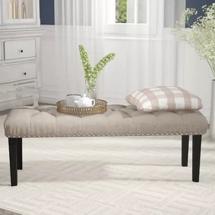 benches for living rooms modern cabinet room you ll love wayfair ca save