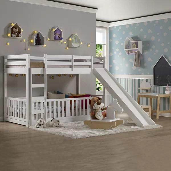 kids slide bunk bed