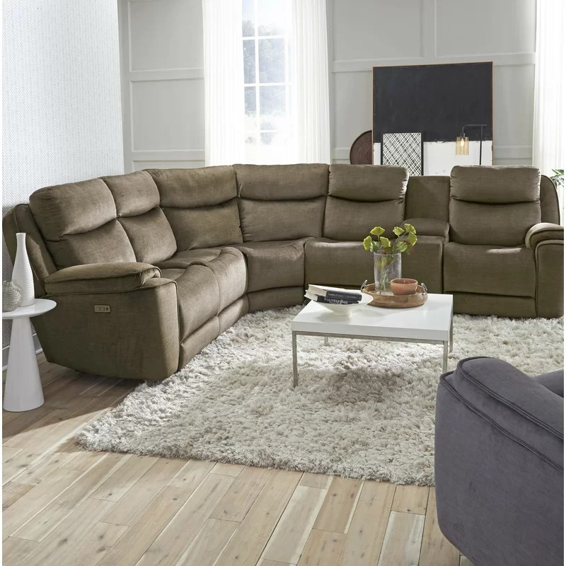 showstopper 108 left hand facing reclining sectional