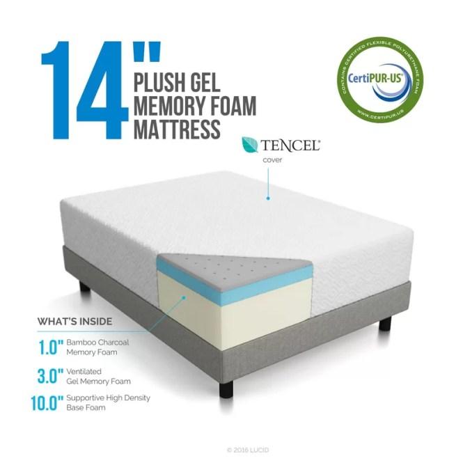 14 Plush Gel Memory Foam Mattress