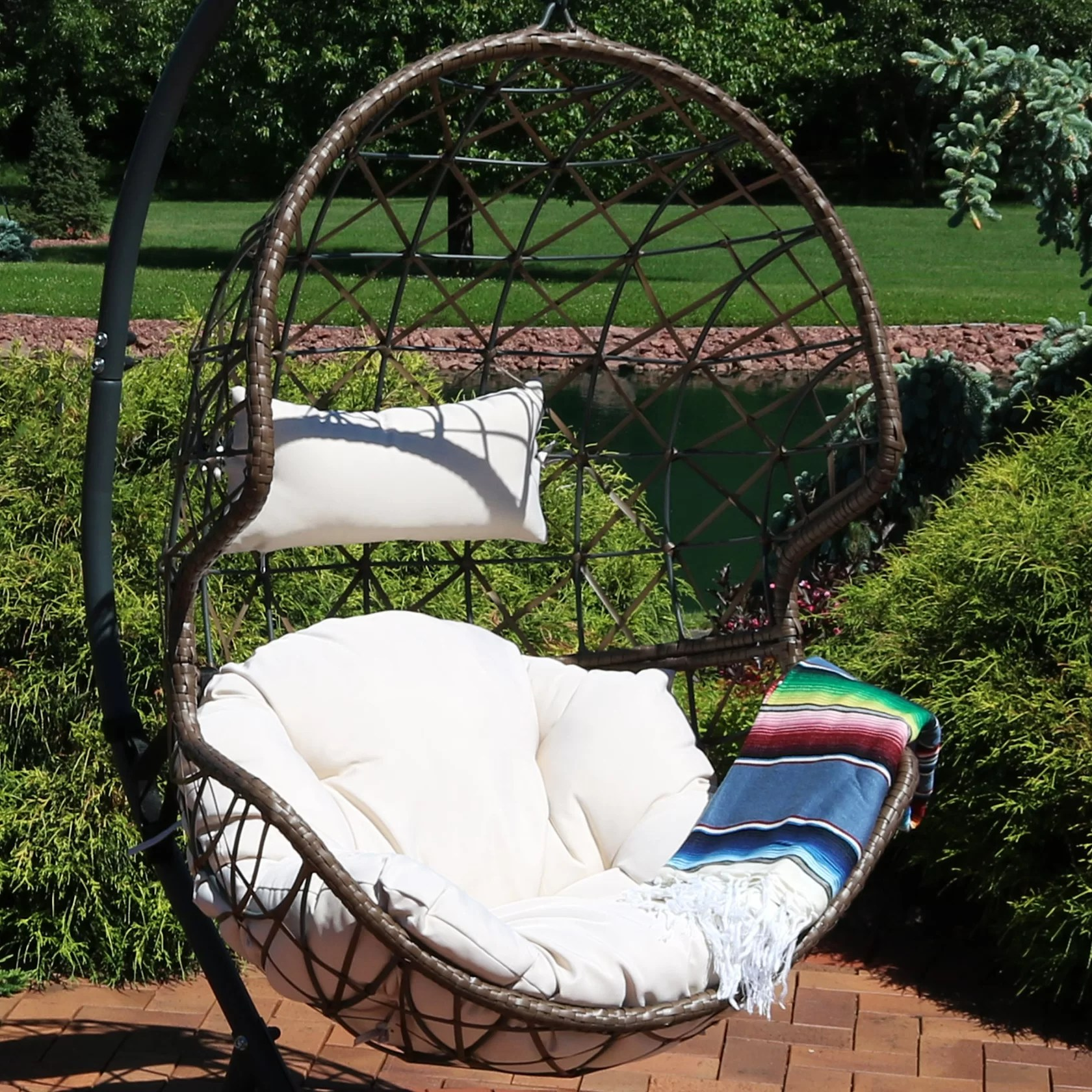 Egg Wicker Chairs Outdoor Best Hanging Egg Swing Chair