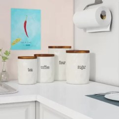 Canisters Kitchen Cabinets Design Layout Jars You Ll Love Wayfair Ca It S Just Words 4 Piece Canister Set