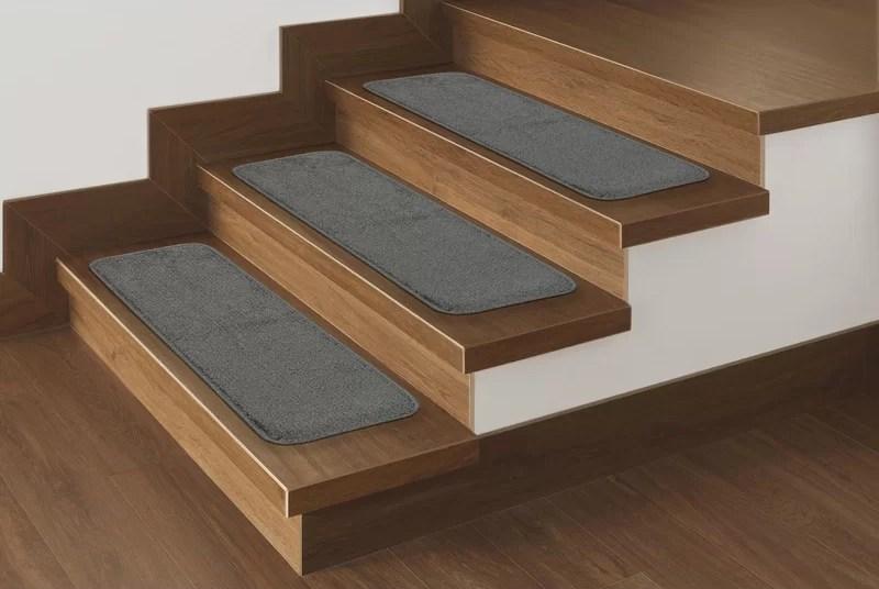 Andover Mills Carreras Pile Stair Treads Reviews Wayfair | Wayfair Carpet Stair Treads | Tucker Murphy | Carpet Runners | Oaks Godinez | Stair Railing | Beige Carpet