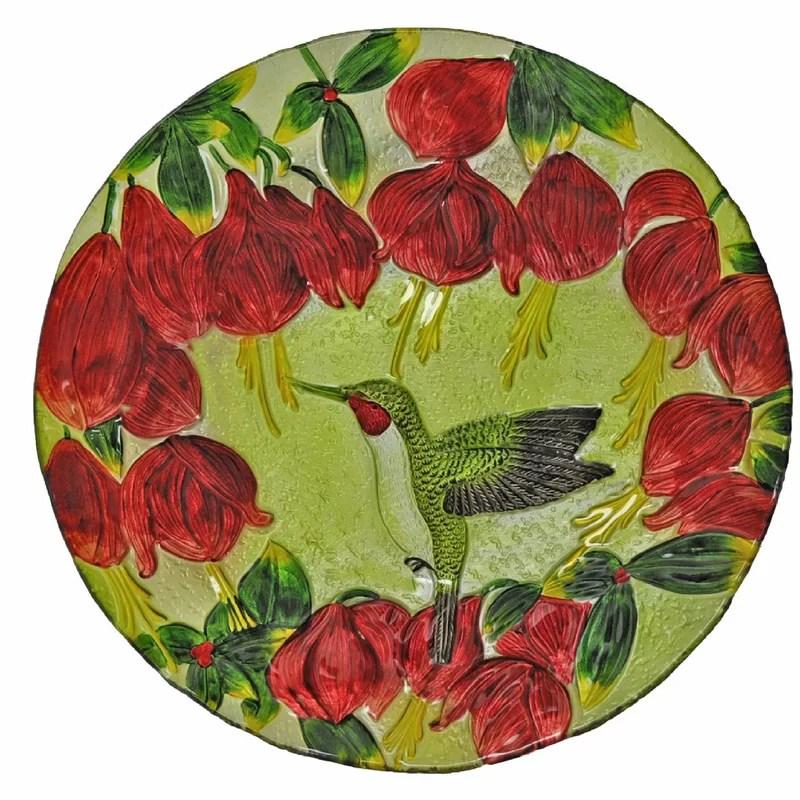 Hummingbird Glass Plate