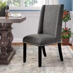 Andover Mills Galewood Wood Leg Upholstered Dining Chair Reviews Wayfair