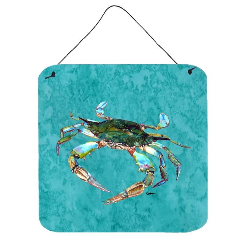 Crab Painting Print Plaque Size: 6 H x 6 W x 0.02 D