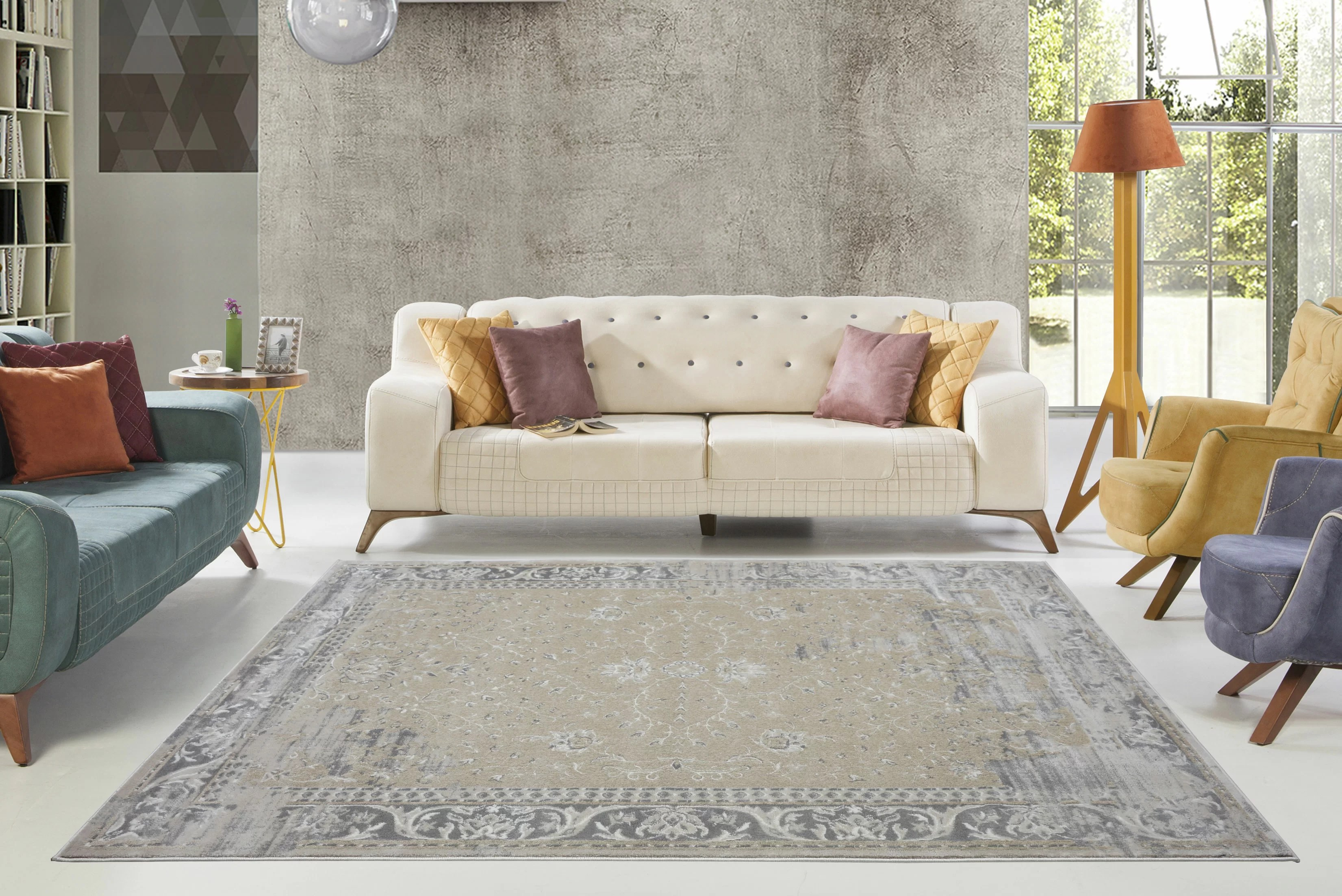 camel and gray living room floor tile designs for rooms bungalow rose dipasquale champagne area rug wayfair
