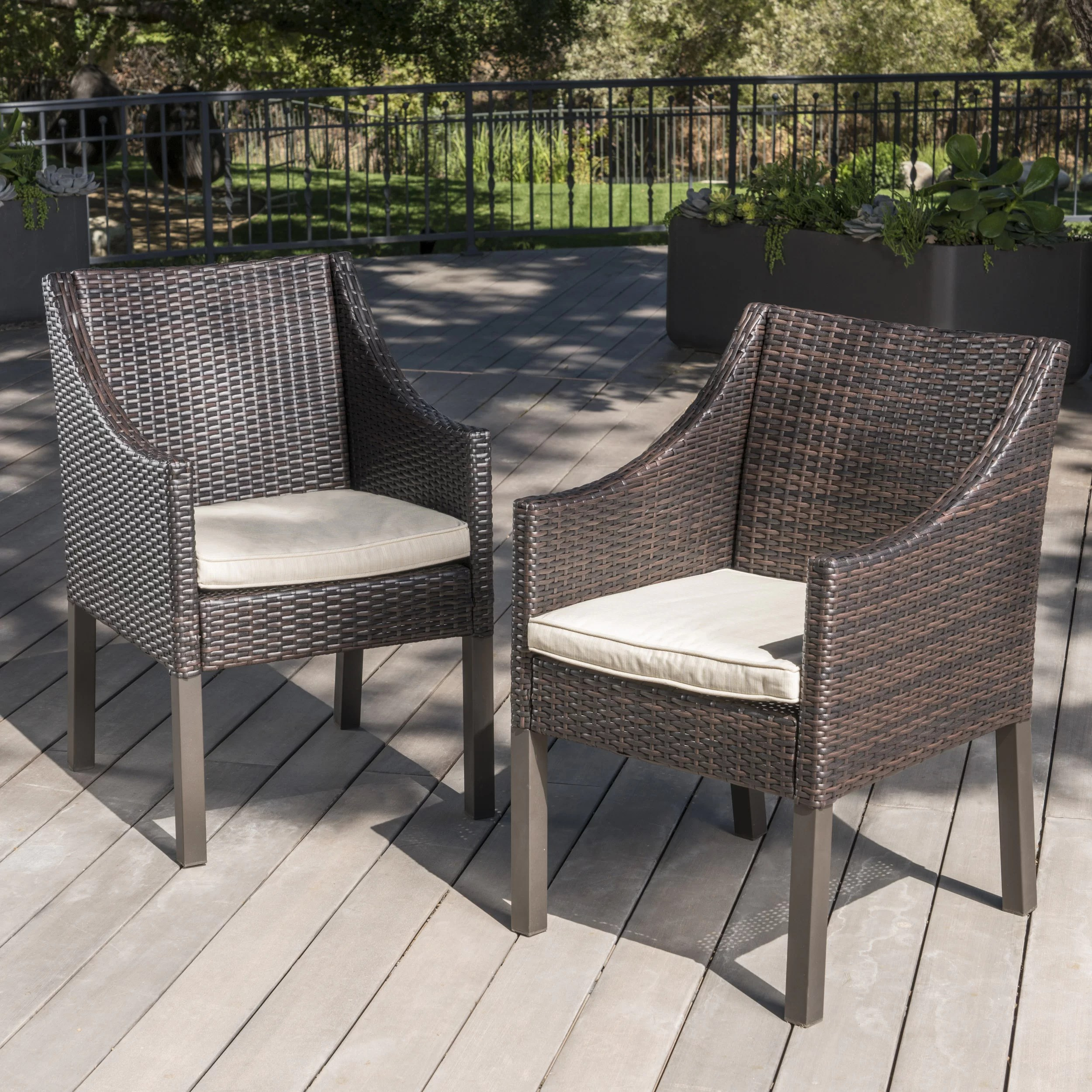 Wicker Outdoor Dining Chairs Arciniega Outdoor Wicker Patio Dining Chair