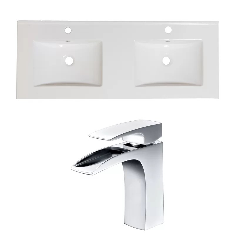 Single Handle 48 Double Bathroom Vanity Top