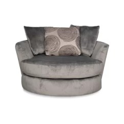 Big Round Chair Bedroom Price Oversized Cuddle Wayfair Leesburg Swivel Barrel