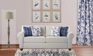 modern twine curved arm sofa lazyboy reclining sofas decorative pillows birch lane get creative