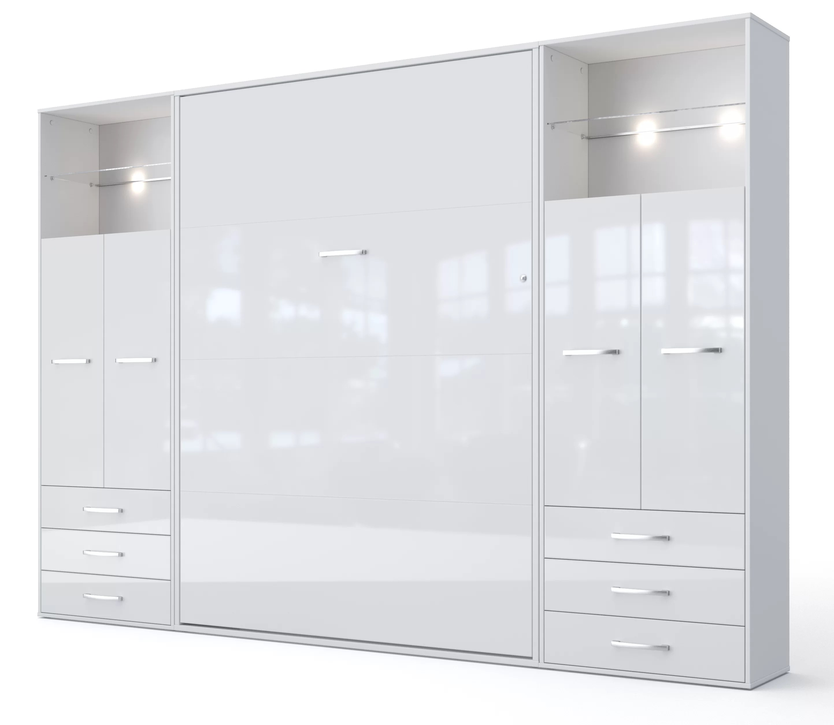 invento vertical wall bed european king size with 2 cabinets