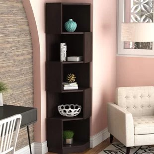 corner living room table chairs for pictures furniture you ll love wayfair courtdale bookcase