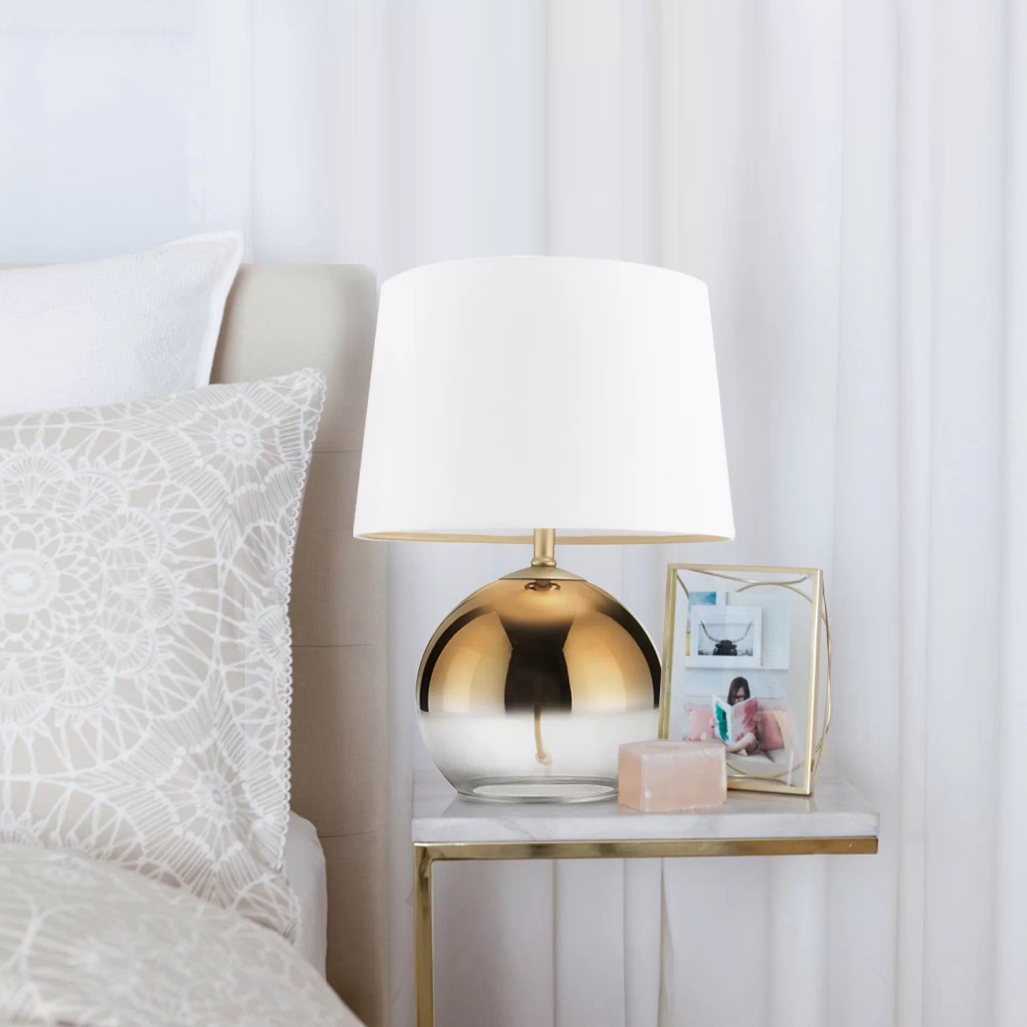 Gravois Gold Ombre Glass 21 Table Lamp
