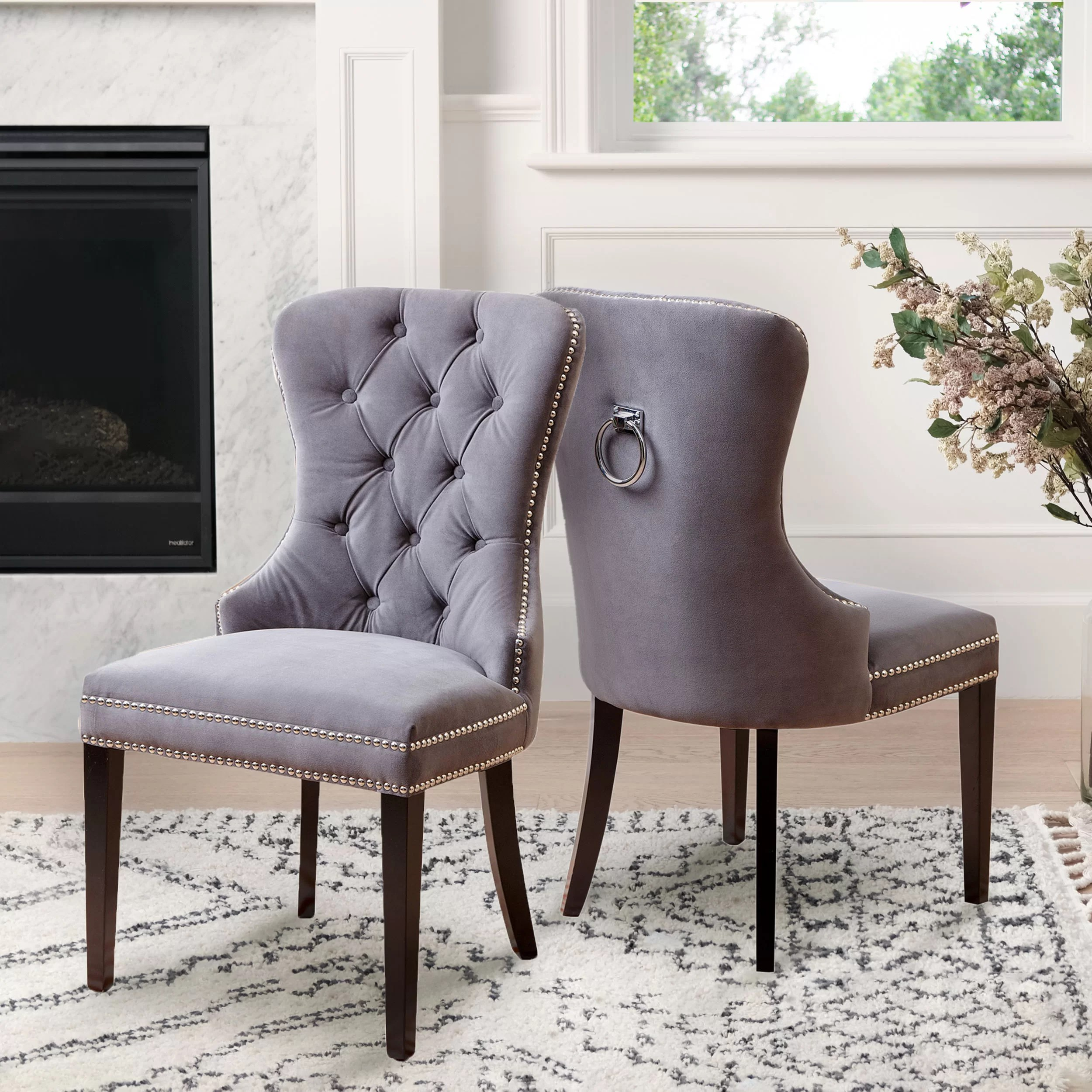 Upholstered Living Room Chairs Zaphod Upholstered Dining Chair