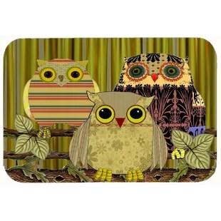 owl kitchen rugs facets rug wayfair fall wisdom bath mat