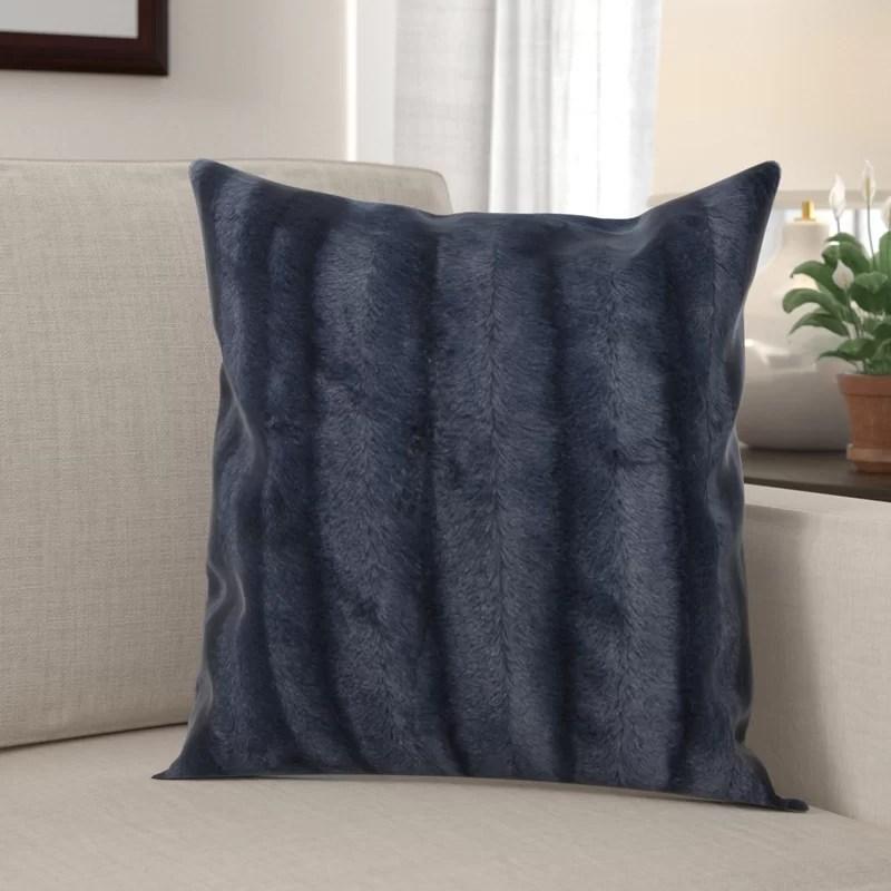 donalsonville indoor faux fur throw pillow