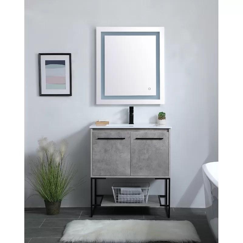 Wade Logan Launcest 30 Single Bathroom Vanity Set Reviews Wayfair