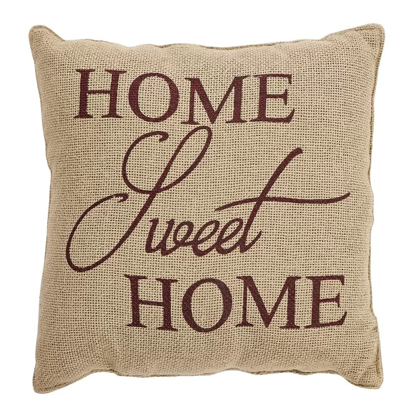 powers home sweet home cotton 12 throw pillow