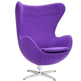 purple swivel chair recliner accent chairs wayfair quickview