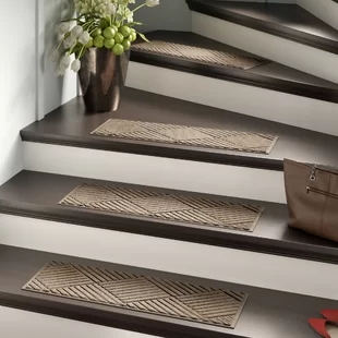 Stair Tread Rugs You Ll Love In 2020 Wayfair   Stick On Carpet Stair Treads   Bc Canada Treads   Replacement   Stain Resistant   Carpet Classic   Dark Grey Grey