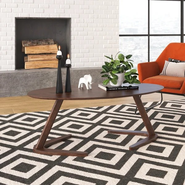 modern contemporary long narrow coffee table