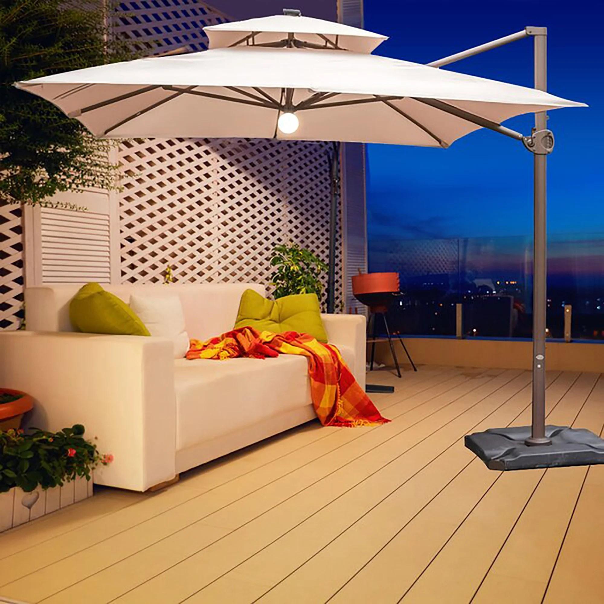 desmond 144 x 108 rectangular lighted cantilever umbrella
