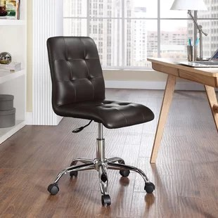 desk chair brown leather cycle office chairs you ll love wayfair quickview