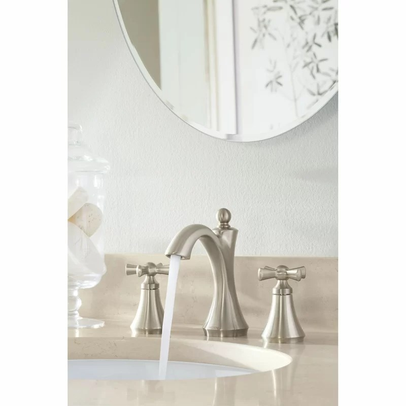 wynford widespread bathroom faucet with drain assembly